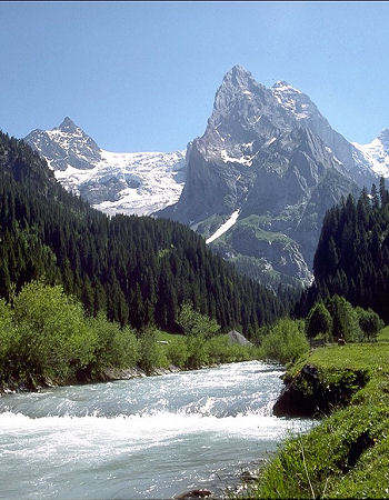Mountain and River View